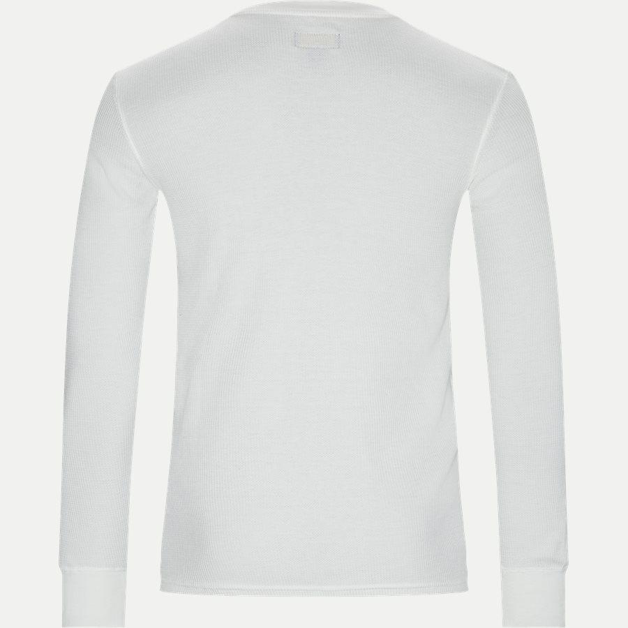 714705228 - Waffel Crew Neck Long Sleeve - T-shirts - Slim - OFF WHITE - 2